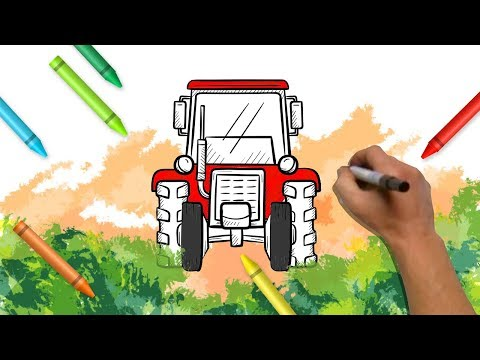Drawings & Painting For Kids | Tractor Coloring Book | Learning Colors for Children From Color World