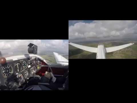 Falcon motor glider flight 11 (hood blind flight)