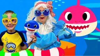 Tiburon bebe - 아기 상어 - Alex와 Nastya의 어린이 노래