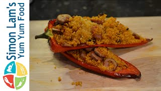 How To Make Stuffed Romano Peppers  | Simon Lam's Yum Yum Food