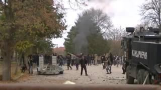 Riot in Bulgaria. Migrants attacked police