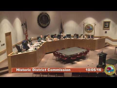 Historic District Commission 10.5.16