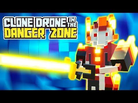 ЧЕЛЛЕНДЖ в БИТВЕ РОБОТОВ! Мульт игра для детей БОИ дронов на АРЕНЕ Clone Drone in the Danger Zone