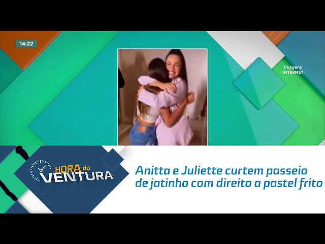Anitta e Juliette curtem passeio de jatinho com direito a pastel frito e brincadeiras
