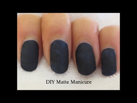 Diy matte mani without matte nail polish youtube diy matte mani without matte nail polish solutioingenieria Image collections