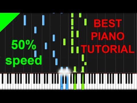 B.o.B ft. Hayley Williams - Airplanes 50% speed piano tutorial