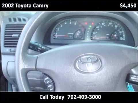 2002 Toyota Camry Used Cars Las Vegas NV