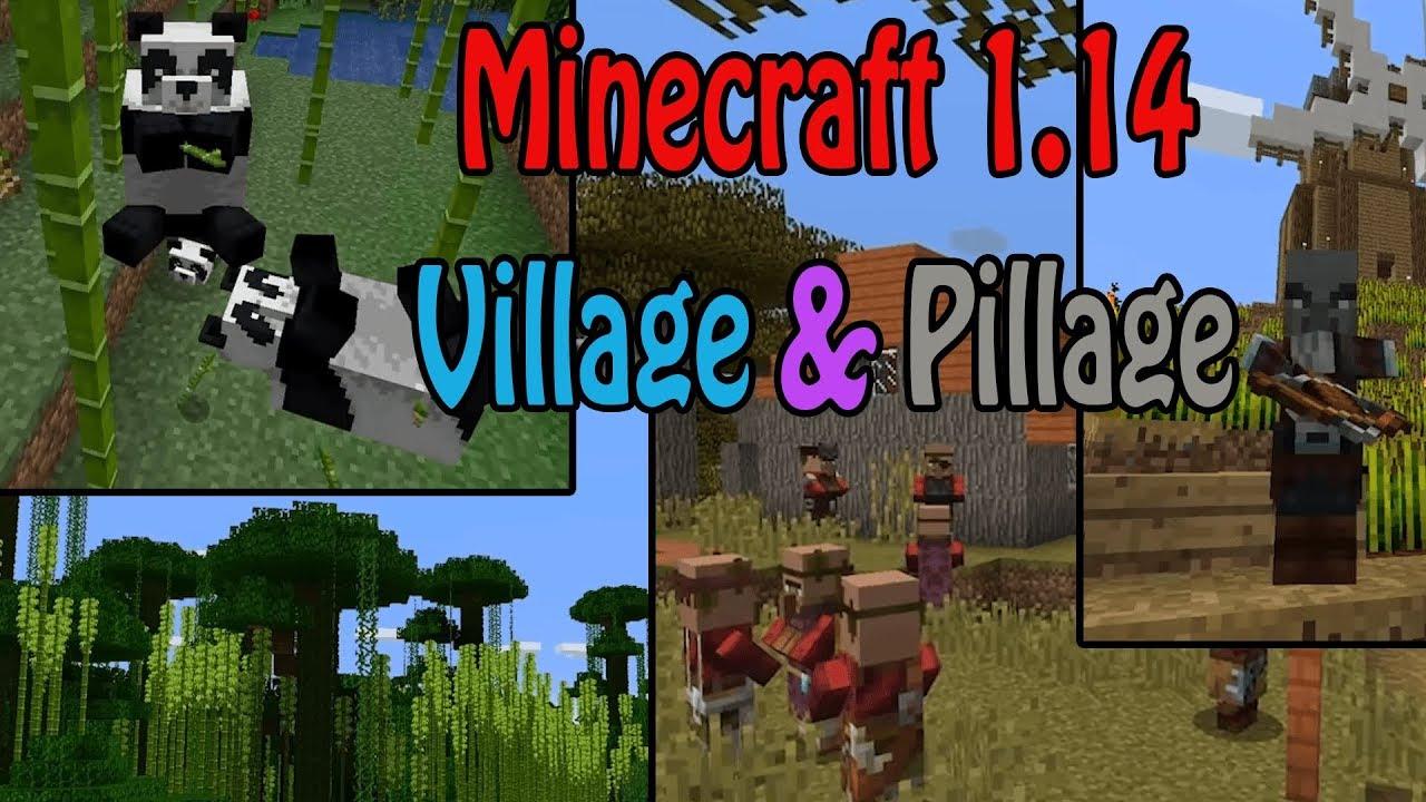 Minecraft 1 14 Later Update News Village Pillage Update