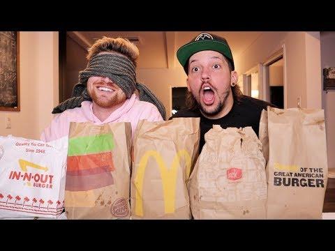 BLINDFOLDED FAST FOOD CHALLENGE!!