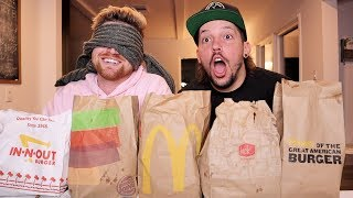 BLINDFOLDED FAST FOOD CHALLENGE!!