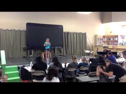 Taylor's Annie Audition - Singing Starts at 1:10