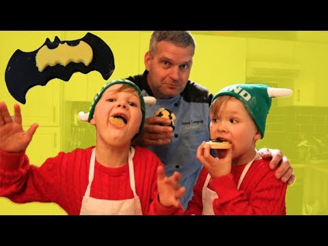 Homemade Batman Cookies with We're The Millers   3 Ingredient Eggless Cookie Recipe