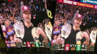 UFC champion Stipe Miocic fires up Cavs crowd at Game 4