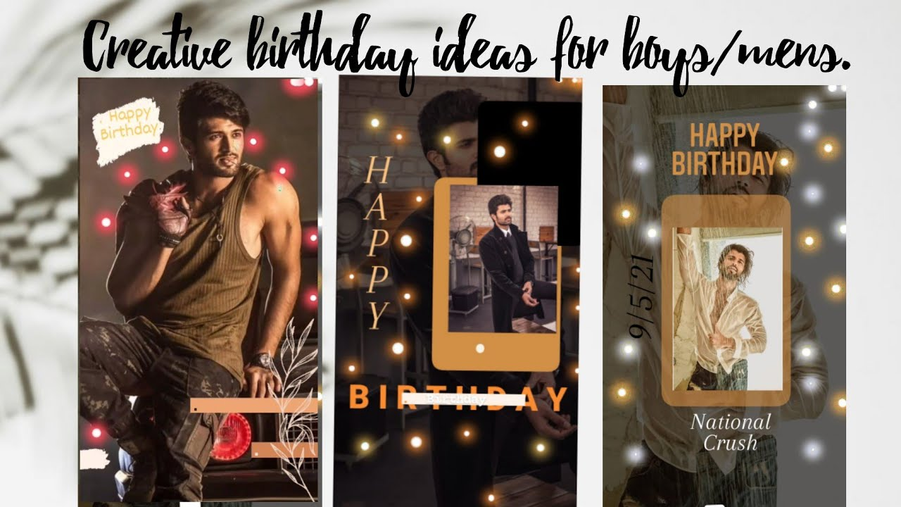 Creative Birthday Instagram Story Ideas for boys.  PART20     YouTube