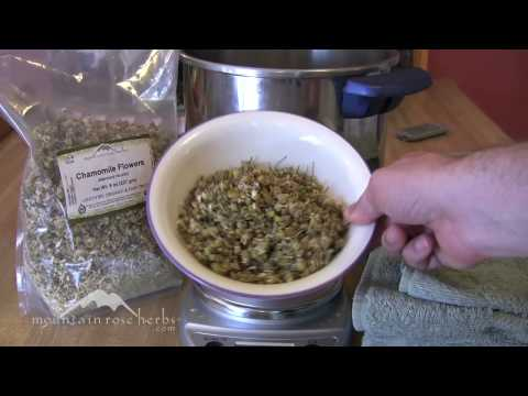How to Make an Herbal Steam with Chamomile