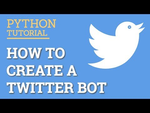 write a twitter bot in python getting