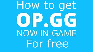 (ENG) HOW TO DOWNLOAD OVERWOLF OP.GG?