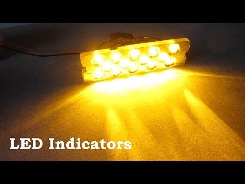 How To Make Led Car Indicators Lights 12v Panel For In Car