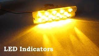 How To Make LED Indicators Lights 12V Panel For In Car Bumpers Or Old Cars DIY 車の led MMD