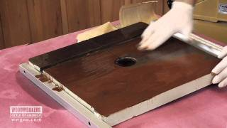 Woodworking Tip: Finishing - Cleaning A Rusty Table