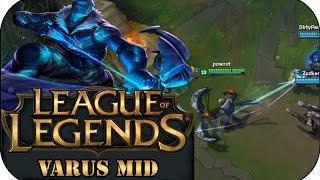 ~65000 DMG! VARUS MID | League of Legends Gameplay deutsch