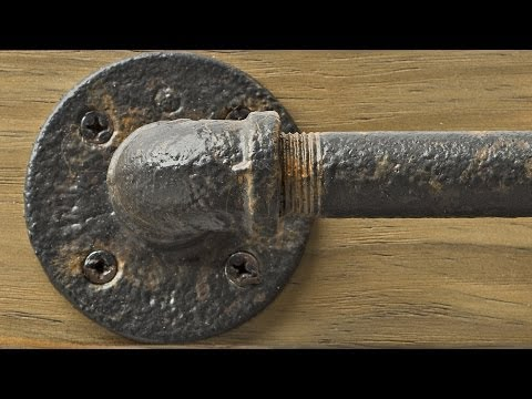 Painting Metal Pipes: Valspar Aged Black Iron Paint
