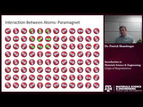 Atomic Origins of Magnetization {Texas A&M: Intro to Materials}