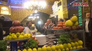 РЕАЛЬНАЯ СИРИЯ - Министры туризма и внутренней торговли обходят рестораны Дамаска 15.12.2017