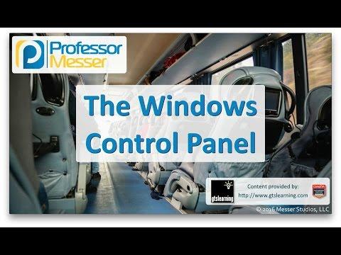 Descargar Video The Windows Control Panel - CompTIA A+ 220-902 - 1.5