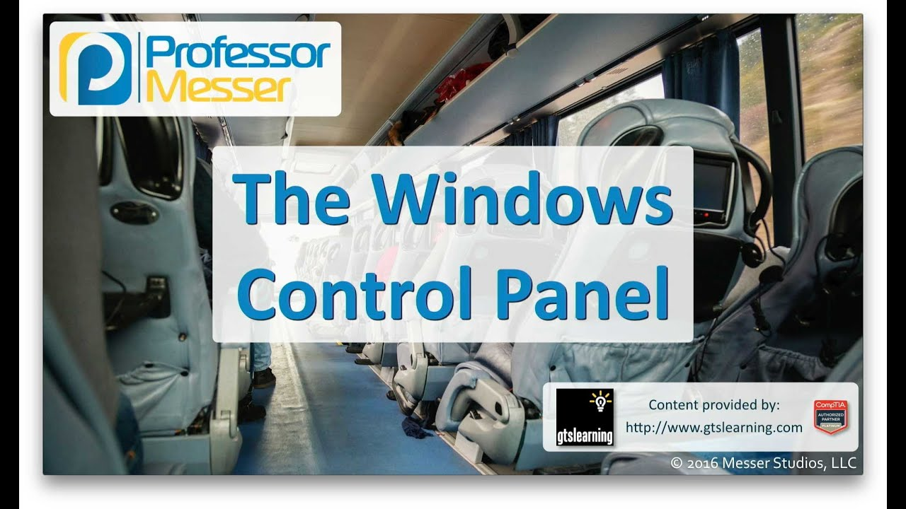 The Windows Control Panel