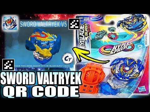 Sword Valtryek V5 Qr Code Beyblade Burst Rise App Youtube