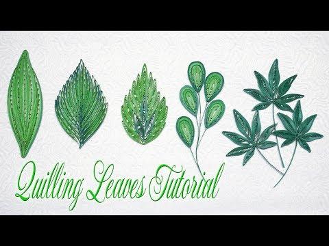 QUILLING LEAVES TUTORIAL P2 | DIY PAPER LEAVES TUTORIAL
