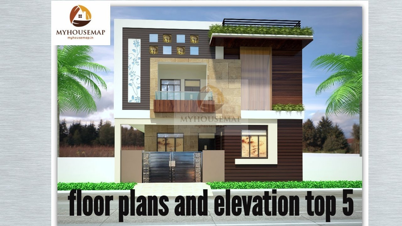 Front Elevation For 25 Feet Front : Floor plans elevation ft