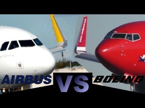 "Airbus A320 ""Sharklets"" VS Boeing 737 ""Winglets"" (Full HD1080p)"