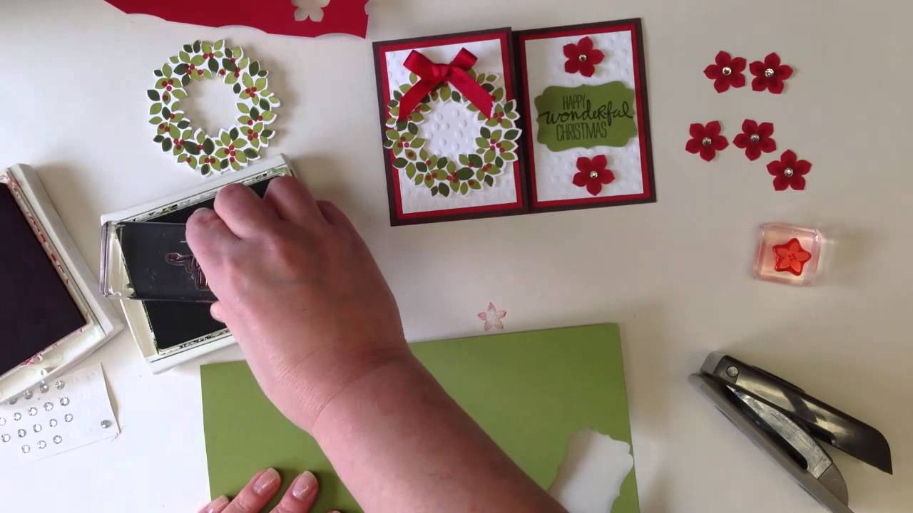 How To Make A Fold Flat Stampin Up Wondrous Wreath Card