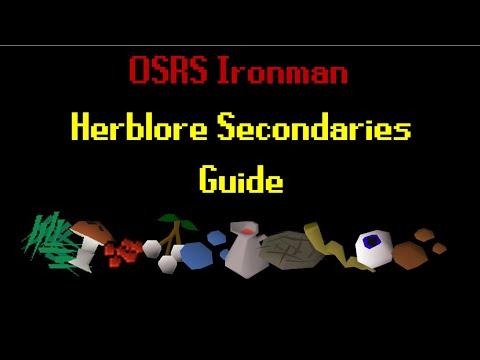 OSRS - Ironman Herblore Secondaries Guide