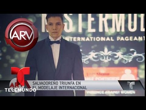 Modelo salvadoreño triunfa en la moda masculina | Al Rojo Vivo | Telemundo