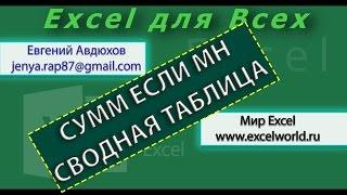 Суммирование по условию в Excel, СУММЕСЛИМН (SUMIFS) (Урок 2) [Eugene Avdukhov, Excel Для Всех]