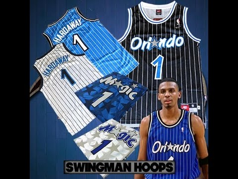 new product 1ac80 65788 Unboxing: Anfernee ''Penny'' Hardaway Black Pinstripe Orlando Magic  Throwback Jersey + More (1080p)