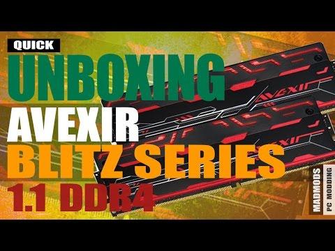 Avexir Blitz 1.1 Quad Channel DDR4 RAM: Quick Unboxing
