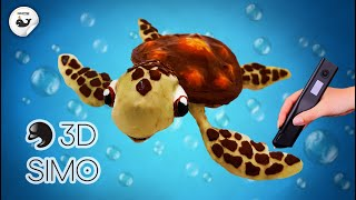 3DSIMO MULTI PRO | TURTLE SQUIRT FROM FINDING NEMO | HOW TO MAKE TURTLE SQUIRT WITH 3DSIMO MULTI PRO