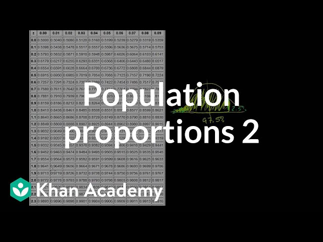 Comparing population proportions 2 (video) | Khan Academy