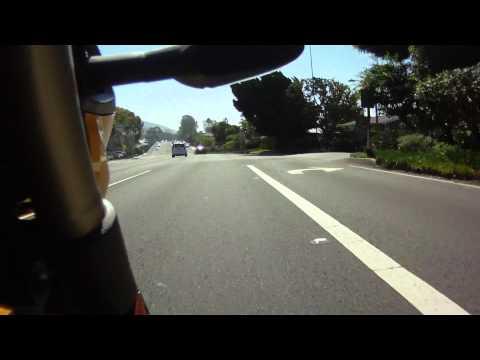 Riding the Pacific Coast Highway from Laguna Beach through Dana Point California