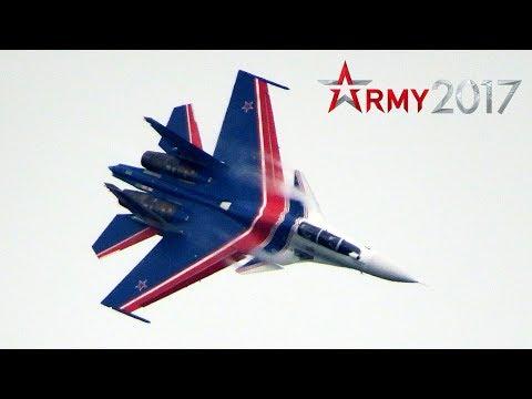 Русские Витязи - одиночный пилотаж на Су-30см | Виртуозный пилотаж! Армия 2017 | 23 августа
