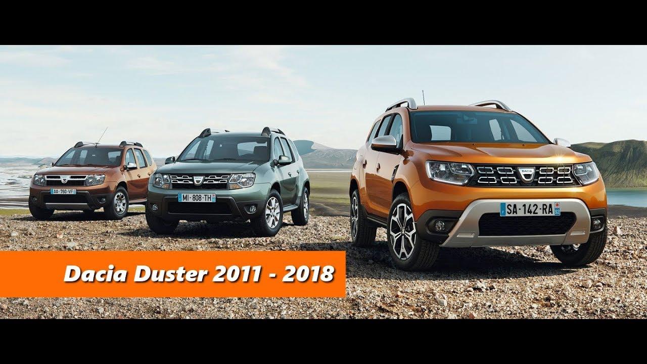 dacia duster evolution of the car 2011 2018 youtube. Black Bedroom Furniture Sets. Home Design Ideas