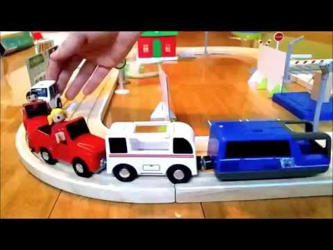 Thumbnail: Toys road for kids. Unboxing wooden set .