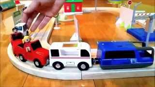 Toys Train For Kids. Video Unboxing Wooden Trains Set For Children .how  Make Toy Trains
