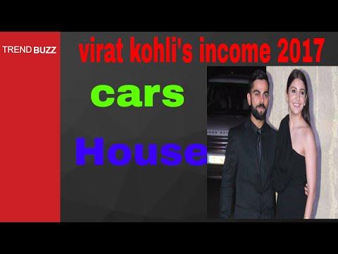 virat kohli's net worth 2017   cars   house   income