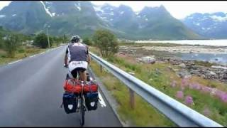 Nordkapp 2011, Cycling  Norway, North Cape on bike