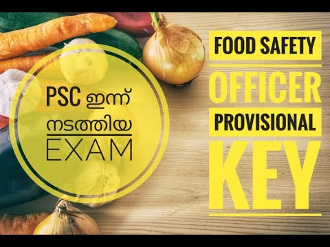 029/2020 - Food Safety Officer - Provisional Answer Key ...